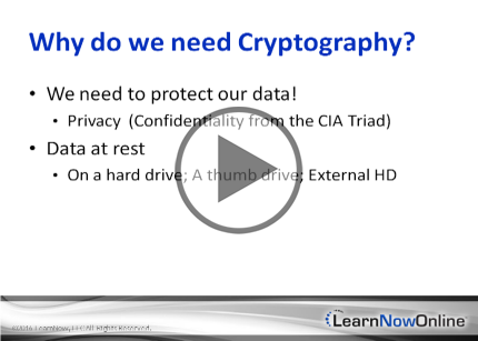 CASP, Part 1 of 9: Cryptography Trailer