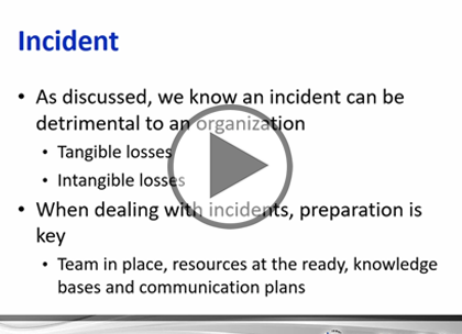 CASP, Part 8: Incident Response