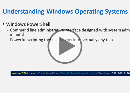CompTIA A+ Cert, Part 12: Working with Operating Systems Trailer