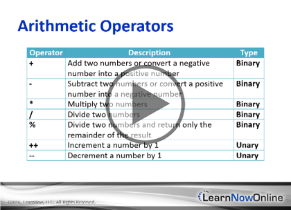 Programming C# 6, Part 05 of 12: Adv Data Types and Operators Trailer