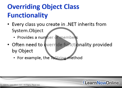 Programming C# 6, Part 09 of 12: Objects and Types Trailer