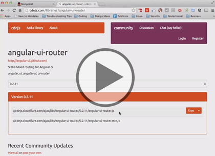 MongoDB, Part 1 of 2: Implementation of AngularJS Trailer