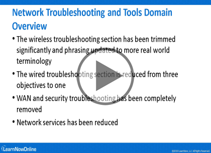 CompTIA NET+ Cert 007 Update, Part 5 of 5: Network Troubleshooting Trailer