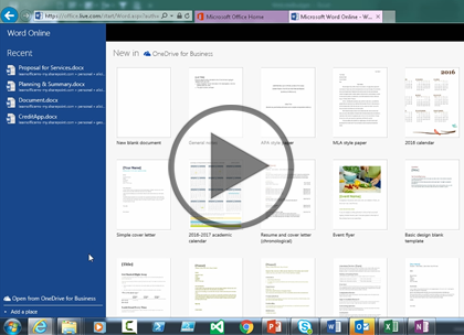 Office 365, Part 4 of 5: OneDrive for Business Trailer
