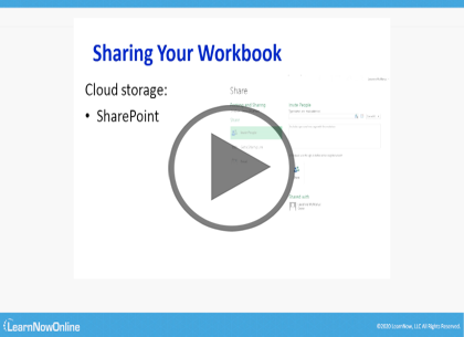 Microsoft Excel 2019. Part 5 of 5: Printing and Sharing  Trailer