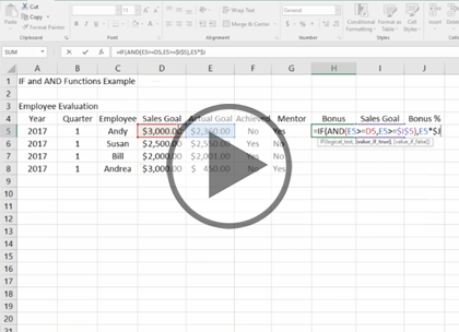 Microsoft Excel 2016 Data Analysis, Part 1 of 4: Functions and Formulas Trailer