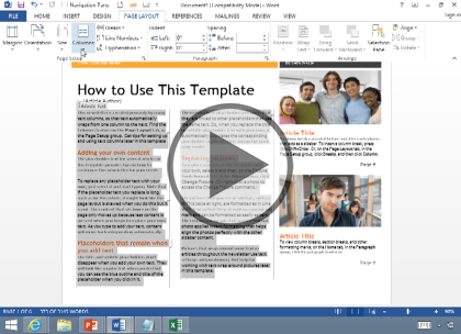 Microsoft Word 2013, Part 4 of 4: Labels, Page Layout and Printing Trailer