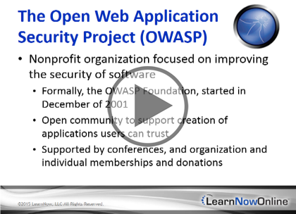 OWASP, Part 3 of 4: Threats and Session Security Trailer