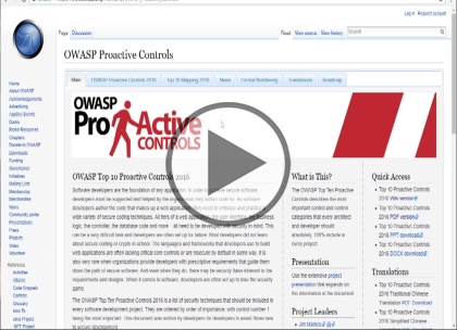 OWASP Proactive Controls, Part 1 of 2: Controls 1 through 5