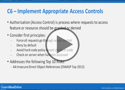 OWASP Proactive Controls, Part 2 of 2: Controls 6 through 10 Trailer