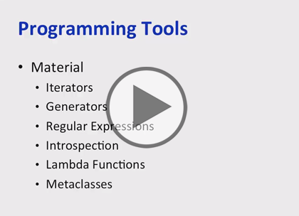 Python 3, Part 5 of 6: Programming Tools Trailer