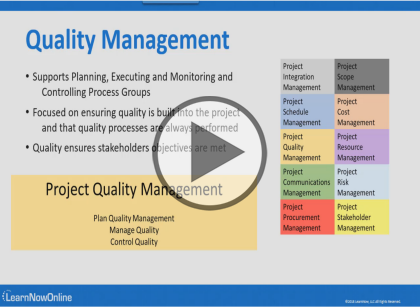 PMP Certification (PMBOK 6), Part 6 of 13: Project Quality Management