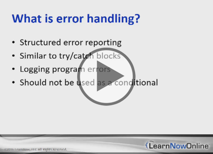 Ruby, Part 6 of 6: Error Handling, Frameworks, and Algorithms Trailer