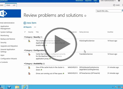 SharePoint 2013 Administrator, Part 4 of 5: Monitoring Trailer