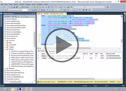SQL 2012 Admin, Part 4: Server Optimization Trailer