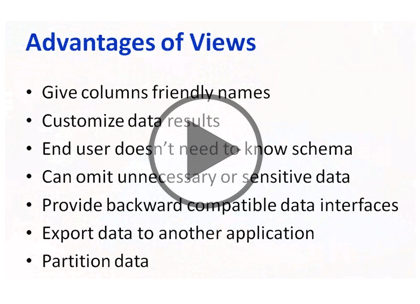 SQL 2012 Developer, Part 01 of 13: Views Trailer
