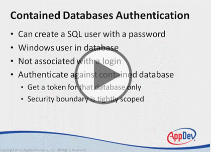 SQL Server 2012, Part 5 of 9: Security Basics Trailer