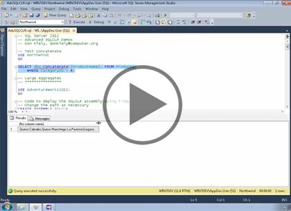 SQL 2012 Developer, Part 06: Advanced SQL CLR