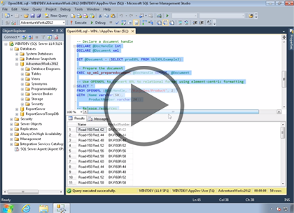 SQL 2014 Developer, Part 13 of 13: Working with XML
