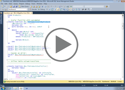 SQL 2014 Developer, Part 03 of 13: Functions Trailer