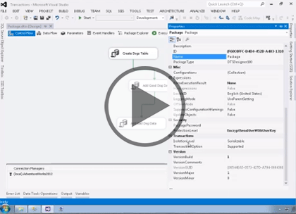 SSIS 2014, Part 04: Containers and Transaction Support