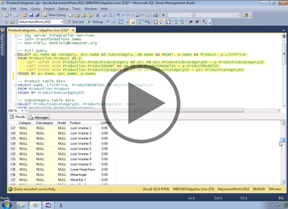 SSIS 2014, Part 05 of 11: Join Transformations Trailer