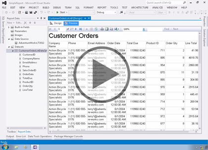 SSRS 2014, Part 02: Creating Reports Trailer