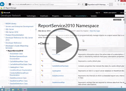 SSRS 2014, Part 08: Web Service Programming