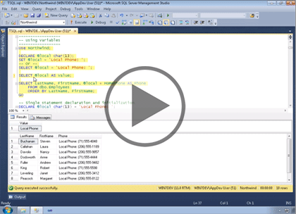 SQL Server 2012, Part 7: Introduction to T-SQL