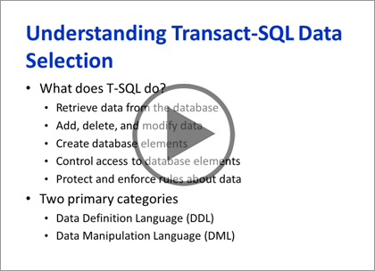 SQL Server 2014, Part 8 of 9: T-SQL Select, Where, and Clauses Trailer