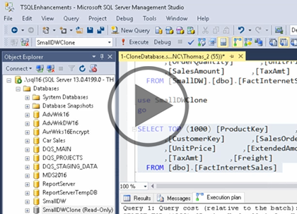 Exploring SQL Server 2016, Part 2: Performance Enhancements Trailer