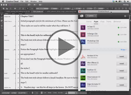 InCopy CC, Part 2: Workspace, Tools and Spelling Trailer
