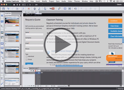 Adobe Captivate 7, Part 5: Sidelet and Effects Trailer