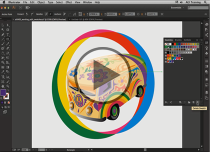 Illustrator CC, Part 2: Artboard and Live Paint Trailer