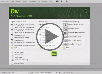 Dreamweaver CS6, Part 7: Web Form & Spry Framework Trailer