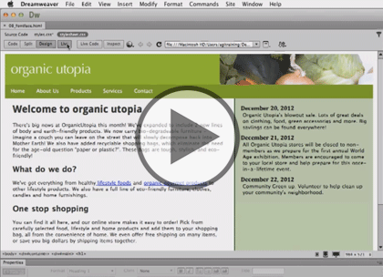 Dreamweaver CC, Part 2: Text and Images Trailer