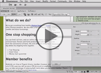 Dreamweaver CS6 Tips, Part 2: Elements & Styles Trailer
