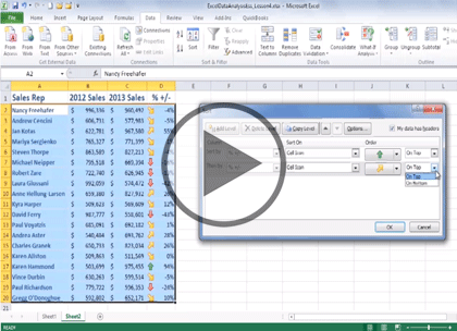 Excel 2013 Data Analysis, Part 3: PivotTable