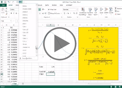 Excel 2013 Advanced Stats, Part 2: F-Test & ANOVA Trailer