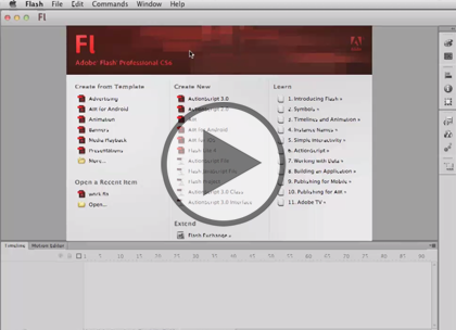 Flash Professional CS6, Part 4: 3D and Workflow