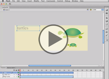 Flash Professional CS6 Tips, Part 1: Drawing Tools Trailer
