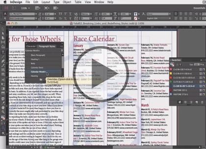 InDesign CC In-Depth, Part 2: Styles and Libraries Trailer