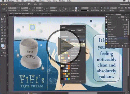 InDesign CC, Part 1: Workspace, Styles, Pages Trailer