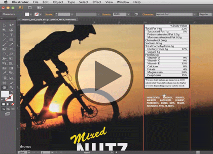 Illustrator CS6, Part 5: Text and Layers Trailer