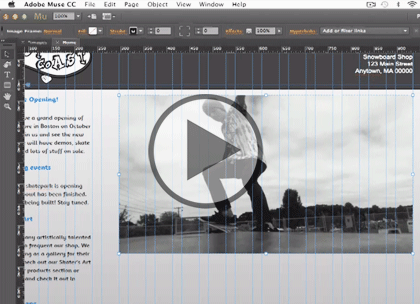 Adobe Muse CC, Part 1: Design, Views and Creating Trailer