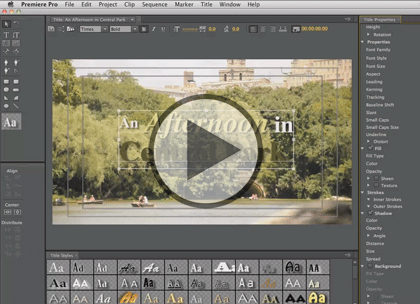 Premiere Pro CS6, Part 1: Editing and Transitions Trailer