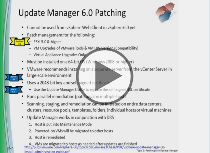 VMware vSphere 6, Part 5 of 5: Availability and Backups Trailer