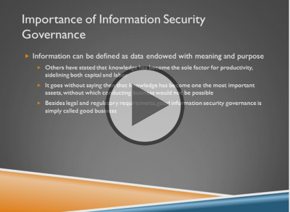 Certified Information Security Manager CISM, Part 1: Governance