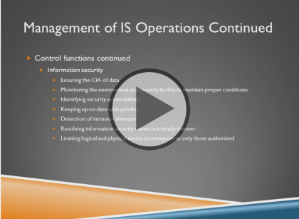 Certified Information Systems Auditor,  Part 4: Operations and Support