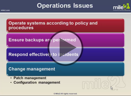 Certified Information Systems Security Professional, Part 3: Cryptography and Operations Trailer
